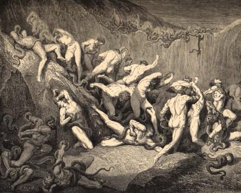 Gustave Doré - Thieves [Inferno-ch24]